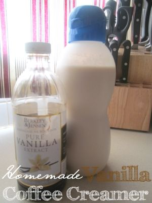 Homemade flavored Coffee Creamers! From the Frugal Find.... I just did this and I am sipping a nice hot cup of coffee with my own homemade creamer! Easy....