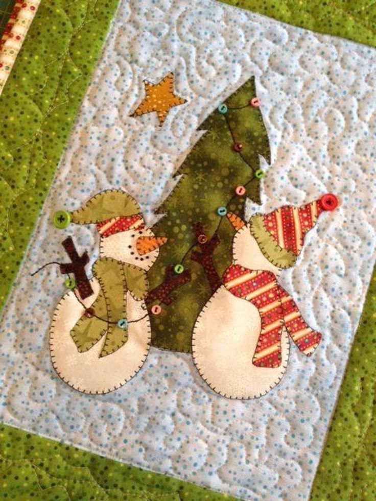 Snow Much Decorating Snowman Mini Quilt | Craftsy