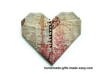 Simple Money Origami Heart - Video Tutorial and Picture Instructions