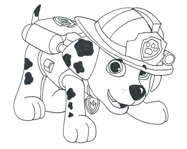 Mejores 26 imágenes de Paw Patrol, patrulla canina para colorear en ...