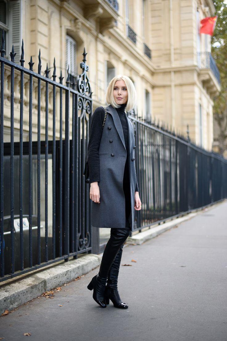 Grey vest Andiata, Fall fashion