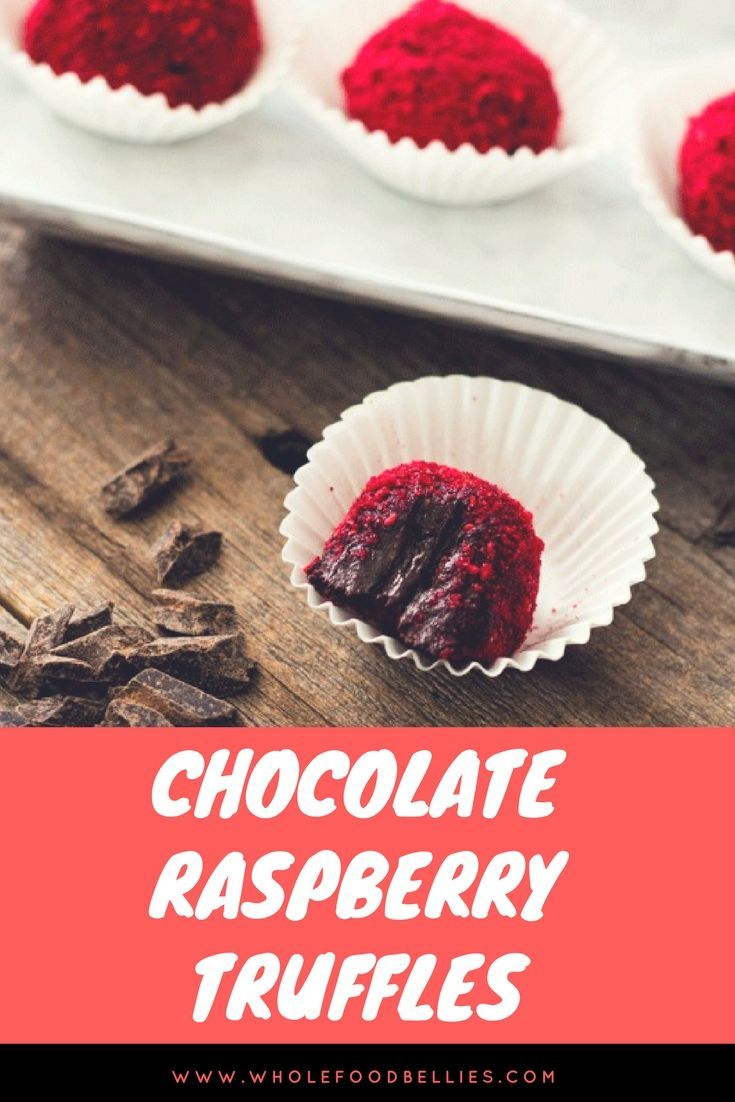 Wow your loved ones with these Chocolate Raspberry Truffles with a Healthy Twist.  #avocado #healthytreat #valentinesday #sweet #chocolate via @wholefoodbellies
