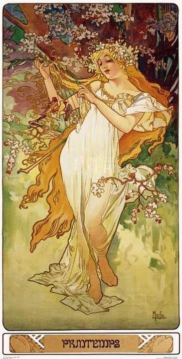 "Alphonse Mucha - ""Printemps"" - 1896"