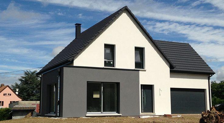 Construction de individuelle avec garage attenant en Alsace.