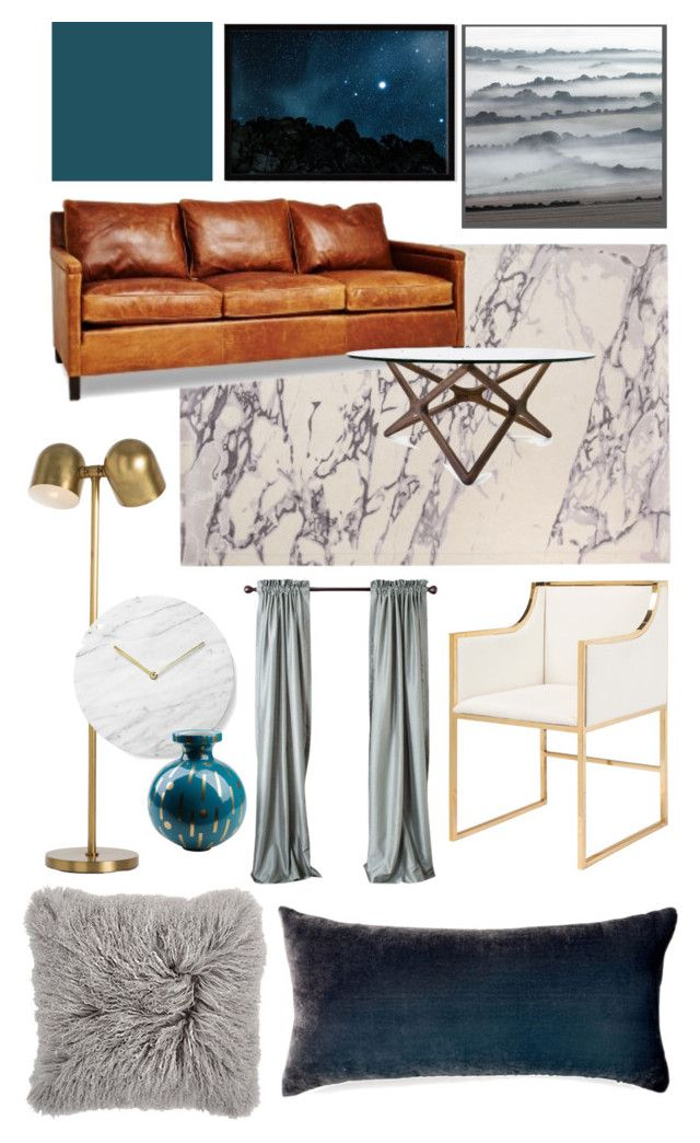 Sophisticated Bachelor Pad by theabstractlife on Polyvore featuring interior, interiors, interior design, home, home decor, interior decorating, Worlds Away, DwellStudio, West Elm and Menu