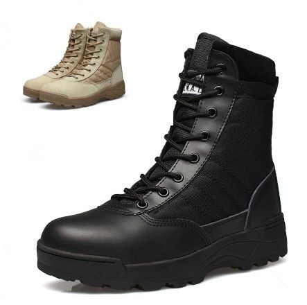 Winter Army Boots Military Desert Boots Black Sand Shoes Autumn Breathable Snow Ankle Boots