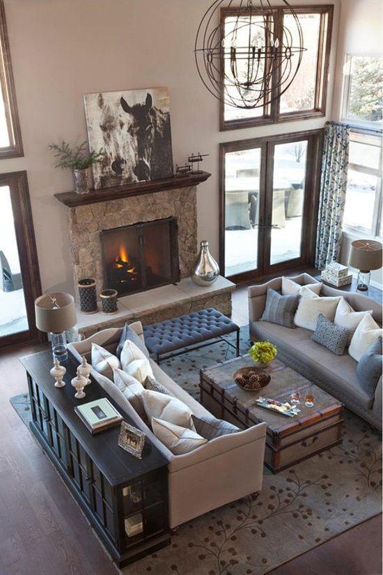 41 best Wohnzimmer images on Pinterest Fire places, Living room - leuchten wohnzimmer landhausstil
