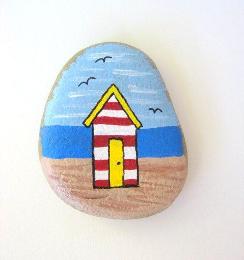I have hand selected this stone on one of my many beachcombing excursions to our gorgeous California beaches. The shape of the stone has inspired