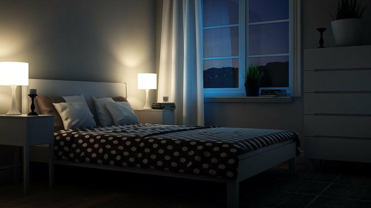 3Ds max Tutorials-Interior Part 12 How to light a Night scene+Post-Produ...