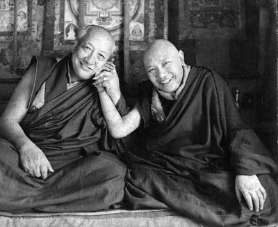 Dilgo Khyentse Rinpoche and Trulshik Rinpoche