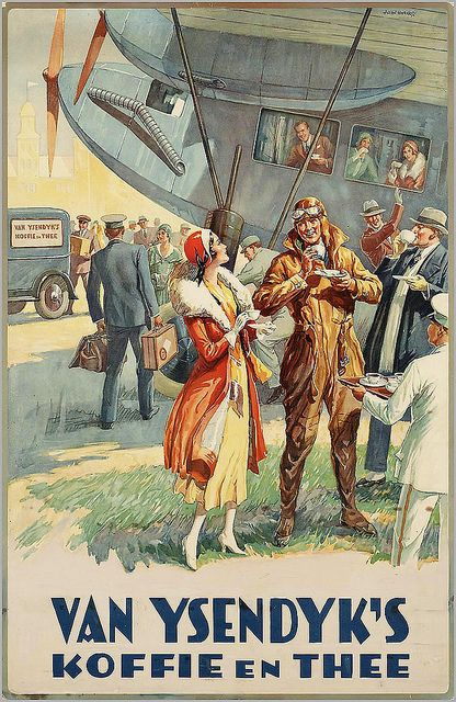 1920 KOFFIE & THEE RECLAME POSTER