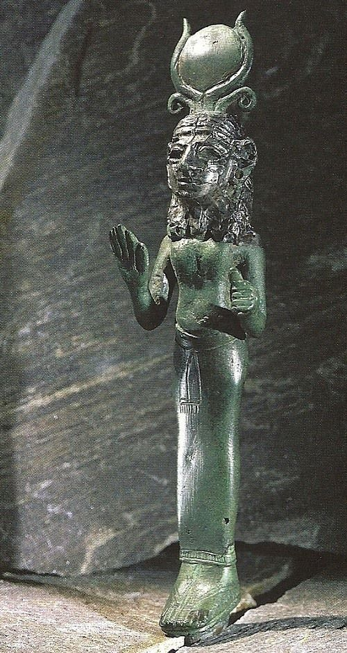 Astarté, Phoenician statue in Egyptian style, circa 8th c. BCE - at the Louvre Museum