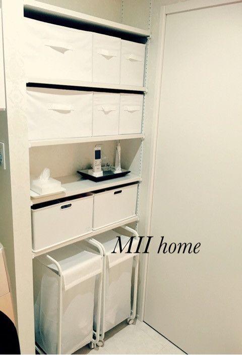 【ニトリ】のプチプラでランドリーの収納 の画像|ホテルライクHome -MII Home-