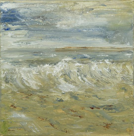 Golfslag. Waves. Oilpainting on linnen. Size: 20 x 20 cm. FOR SALE: € 45,00