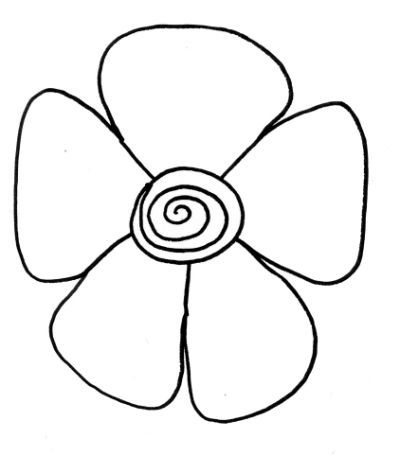 Easy To Draw Flowers - ClipArt