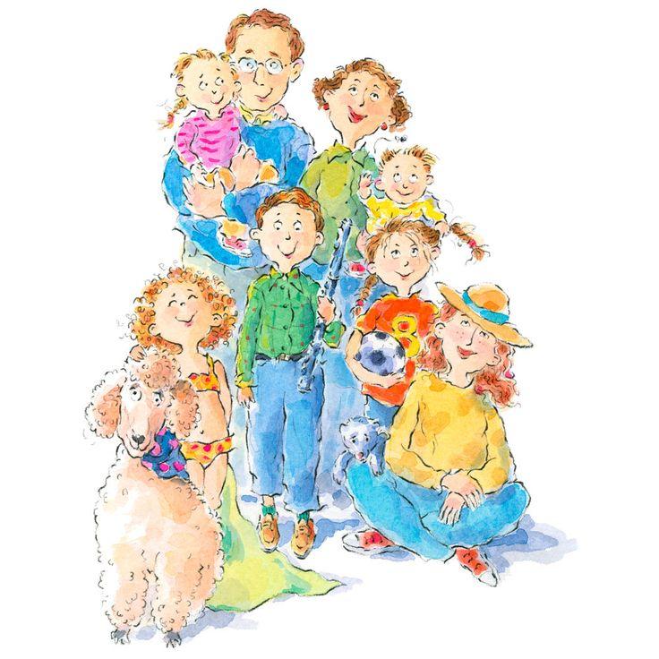 Praatplaat familie, kleuters