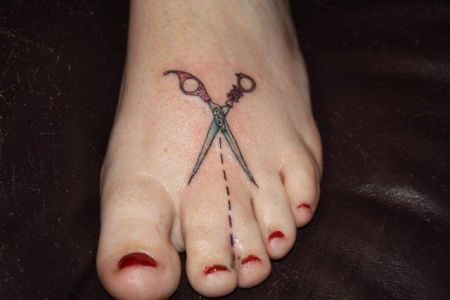 cut here tattoo | Don't Think, Get Ink | Pinterest ...
