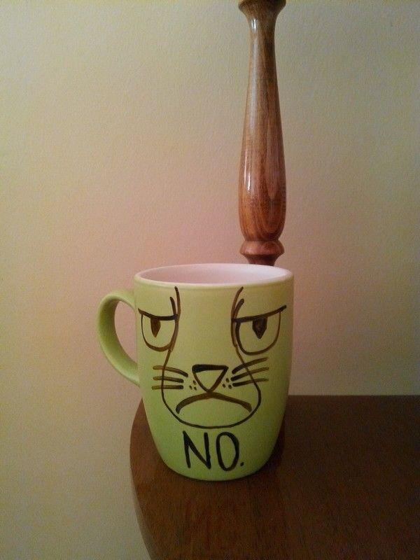 Grumpy cat  Handmade coffee mug :)
