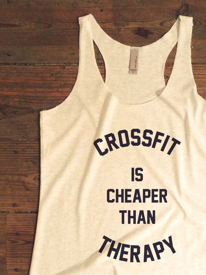 Suzy Squats funny crossfit tank top, perfect to wear during your next crossfit workout or as a gift for a crossfitter friend! You can find more funny workout clothing for crossfit at the Suzy Squats store by clicking the link above.