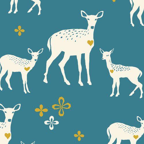 """Blue Deer"" Organic - CANVAS"