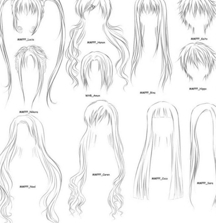 How+to+Draw+Hair+Step+by+Step+Anime+Girl | How to draw anime girls hair step by pictures 4