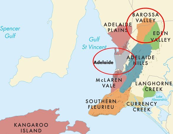 LUSCIOUS TRAVEL: Map of Adelaide and Barossa Valley wine region via myLusciousLife
