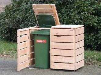 2er Mülltonnenbox Holz 120 Liter