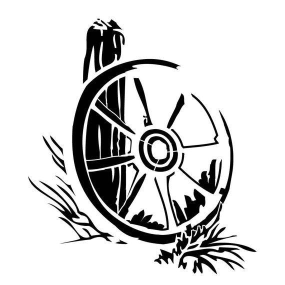 Patrón occidental de carro rueda por PearlDesignStudio en Etsy