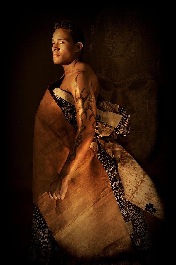 Fijian Man in traditional masi cloth