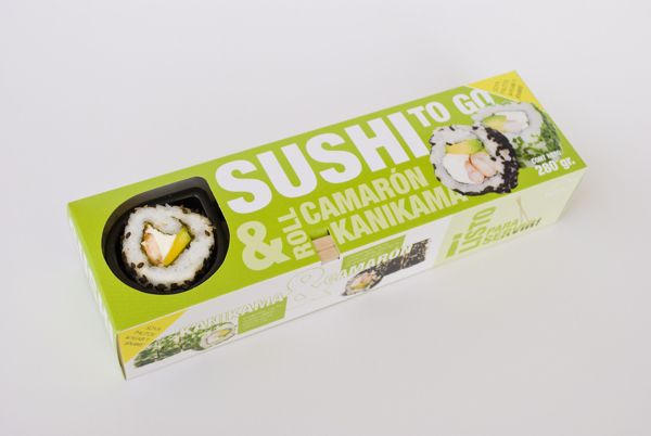 Packaging Sushi To Go by Magdalena Ramírez, via Behance