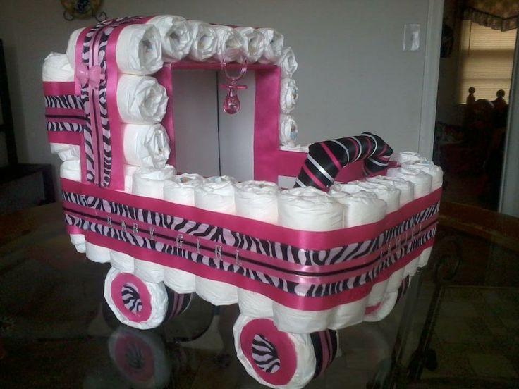 Zebra Print Diaper Stroller Baby Showers Amp Gift Ideas