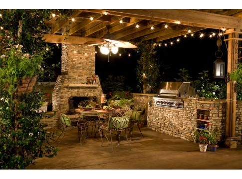 Another reason why i LOVE pergolas!  what a great place to have BBQ's with friends and family!