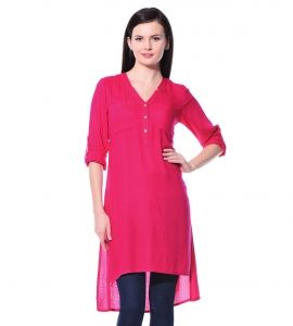 Jalebe trendy Pink tunic for women INDTJBS004