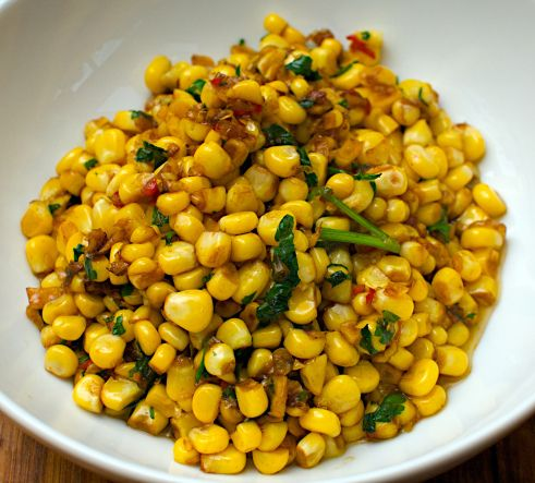Stir Fried Sweet Corn by jonoandjules #Corn #Stir_Fry