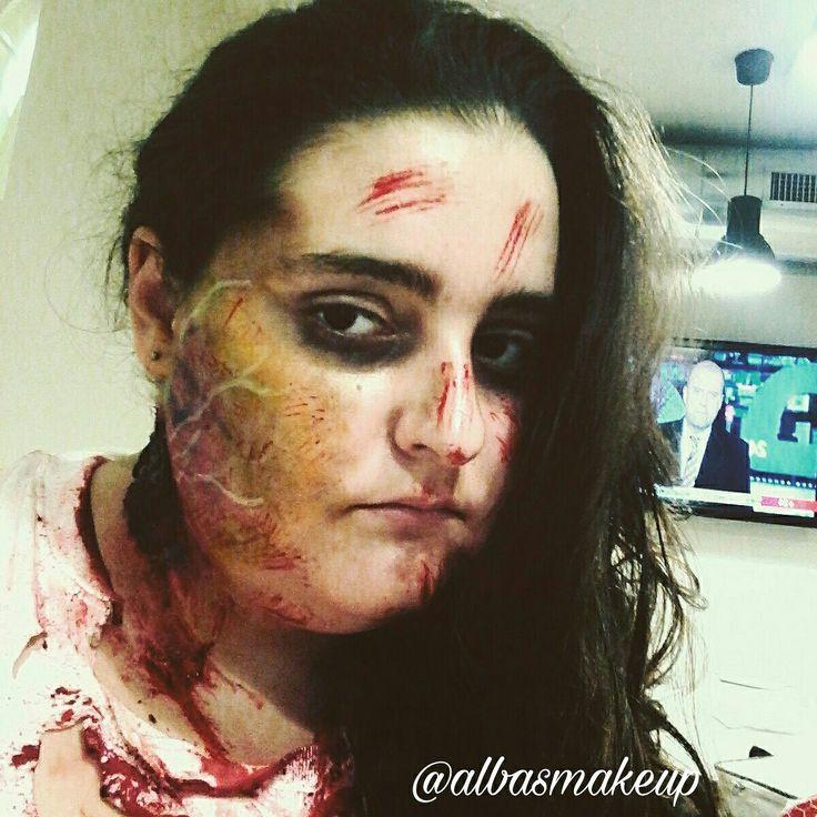 Zombie!!!!! #zombiemakeup #makeup #albasmakeup #sfx