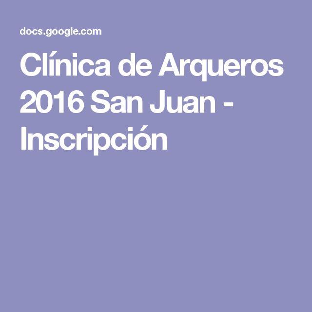 Clínica de Arqueros 2016 San Juan - Inscripción