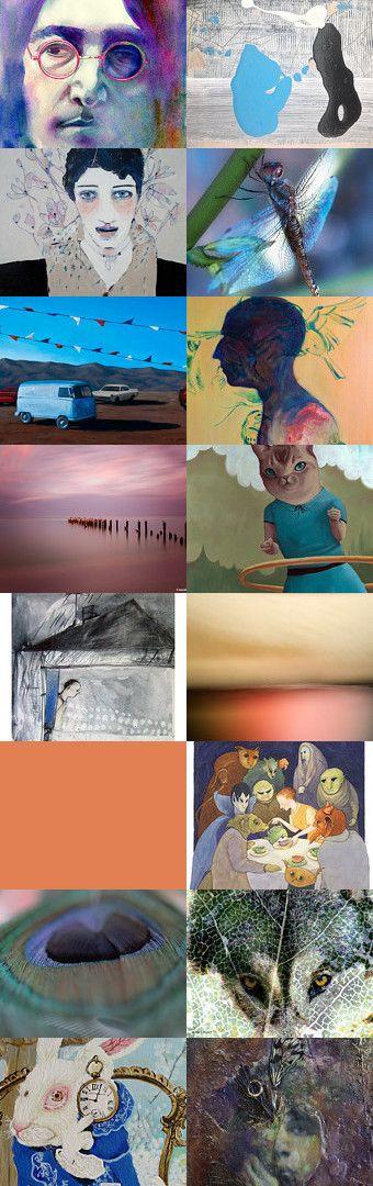 Dreaming the Fine Art Friday Way by Paula Mattson on Etsy--Pinned+with+TreasuryPin.com
