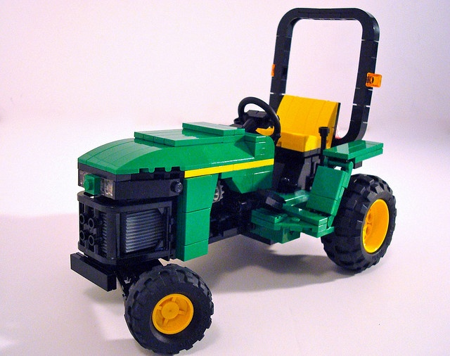 John Deere Compact Tractor LEGO creation by Lino M, via Flickr