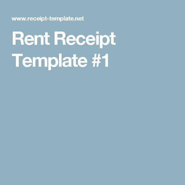 Rent Receipt Template #1