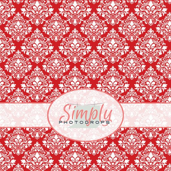 Vinyl Backdrop RED DAMASK  Photography by SIMPLYPHOTODROPS on Etsy