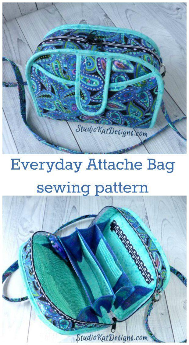 Everyday Attache Bag PDF pattern