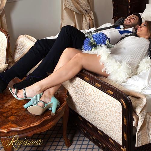 For unique & original brides - a pair of sandals with some rock accents