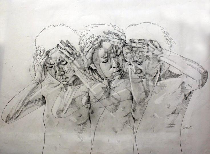 "Saatchi Online Artist: Simon Birch; Pencil, 2012, Drawing ""untitled"""