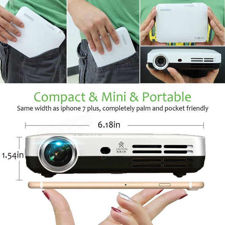 NIERBO Mini Projector Portable 2000 Lumens LED Full HD Android 1080p Home Theater HDMI 3d Projector Sale - Banggood.com