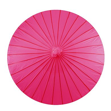 Paper Parasol with Bamboo Boning - Fuschia - The Wedding Faire