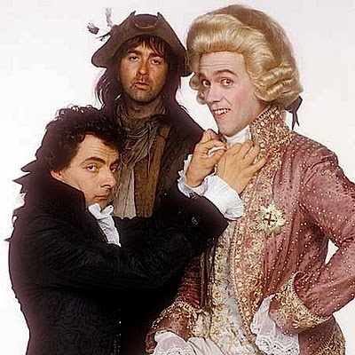 Rowan Atkinson (Blackadder), Tony Robinson (Baldrick), Hugh Laurie (Prince George) - Blackadder the Third (1987)
