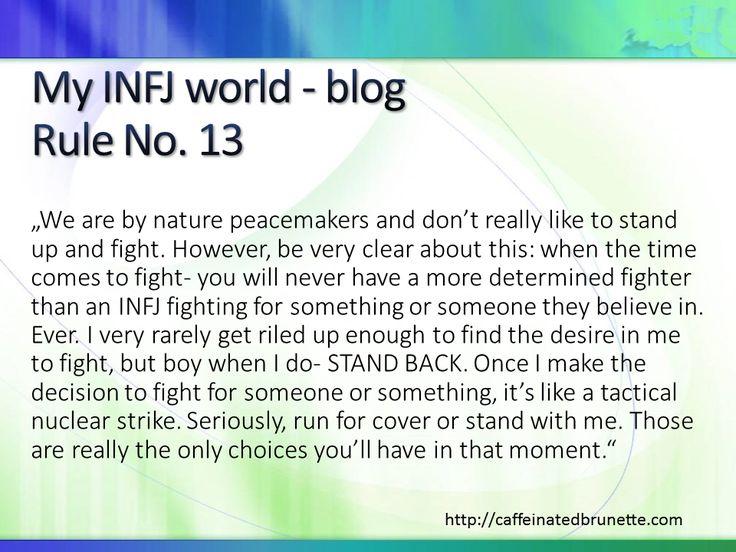 Best INFJ self-description I have read so far (blog http://caffeinatedbrunette.com)