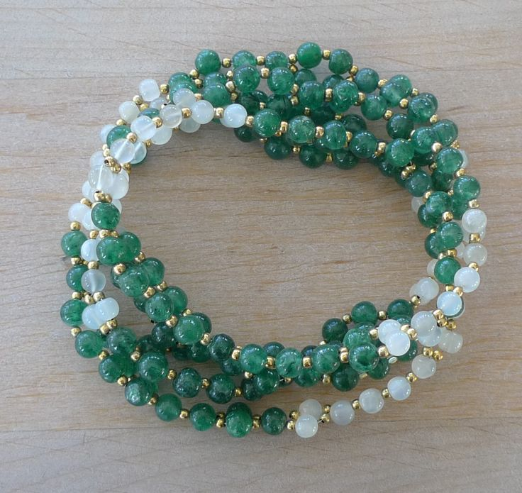 Aventurine and Moon Stone Tantric Mala NEW