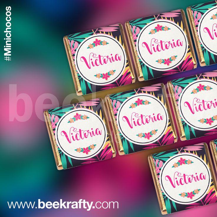 Minichocos para el cumple de Victoria. Los personalizamos con lo que quieras para tus eventos más felices.  Entra en www.bekrafty.com y contáctanos. #beekrafty #pasionporcrear