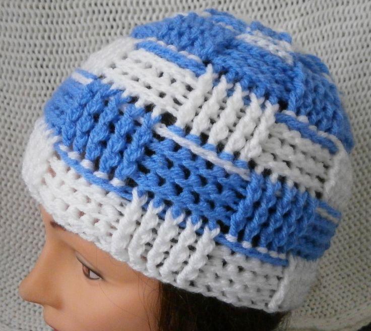 basketweave beanie unisex 100% acrylic yarn